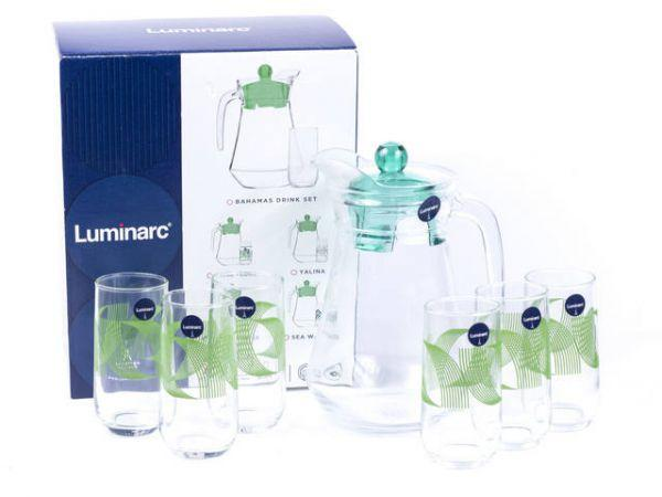 Набор для воды 7пр. Luminarc Green Rings 9664n