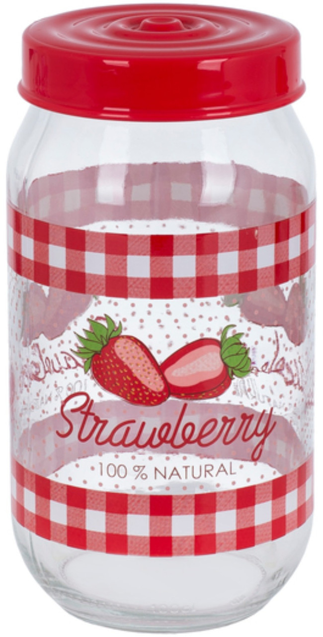 Банка 1л HEREVIN Strawberry 171541-058
